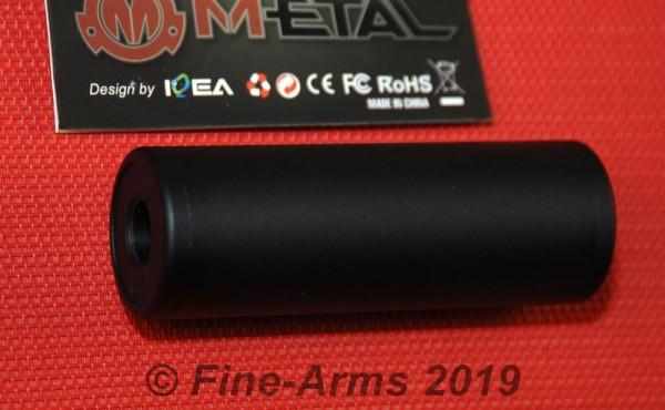 M-ETAL 100mm Silencer Schalli 14mm CW+CCW schwarz