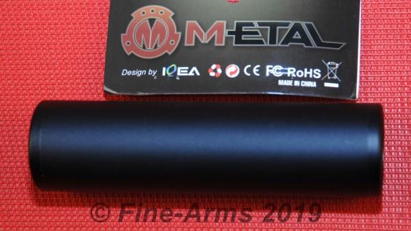 M-ETAL 130mm Silencer Schalli 14mm CW+CCW schwarz