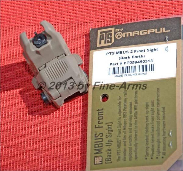 Magpul PTS Flipup MBUS Front tan