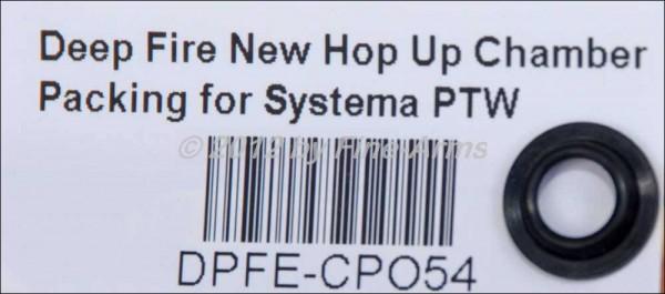 Deep Fire Systema PTW Hopup Kammer Basis Dichtung