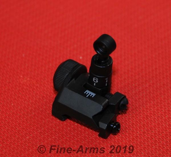 ACM B-Type Klapp Visier hinten schwarz