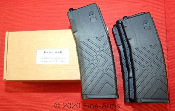 Blackcat Airsoft Systema PTW Polymer Magazin Set schwarz