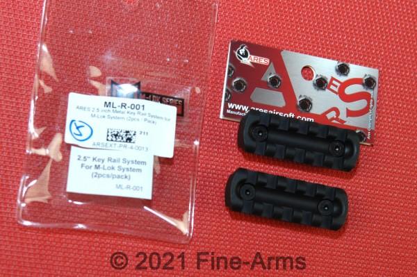 ARES M-Lok 2.5 inch Metal Rail Schienen
