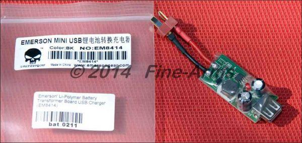 Emerson mini USB Lipo Akku Adapter