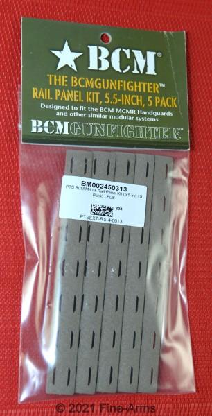 PTS BCM M-Lok Rail Panel Kit (5.5 inc / 5 Stück) Tan